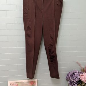Talbots size 10 brown seamed ankle pants